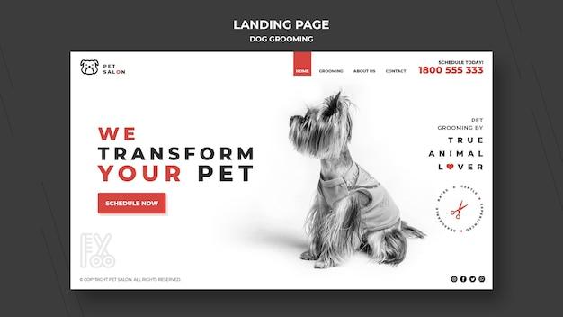 Página de destino para empresa de cuidados com animais de estimação