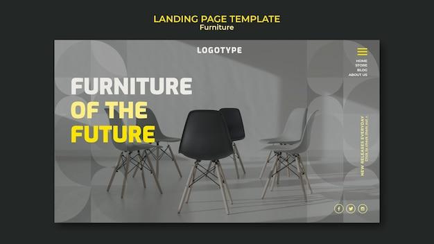 Página de destino para empresa de design de interiores