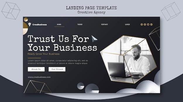 Página de destino para empresa parceira de negócios