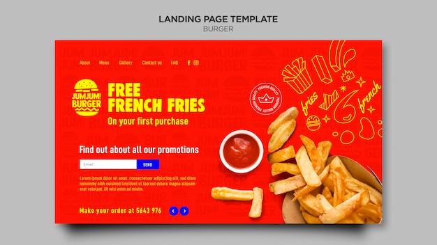 Página de destino para hamburguerias