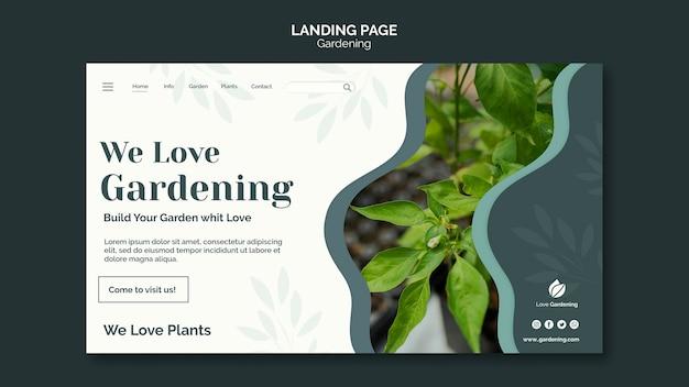 Página de destino para jardinagem
