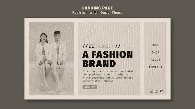 Página de destino para loja de moda