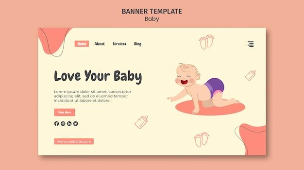Página de destino para o dia internacional do bebê