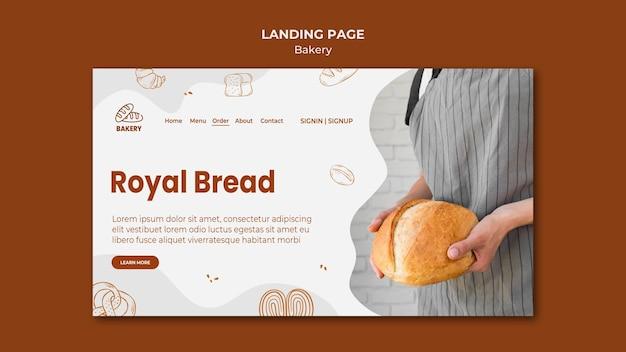 Página de destino para padaria de pão