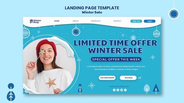 Página de destino para promoção de inverno