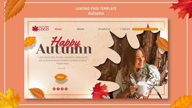 Página de destino para receber a temporada de outono