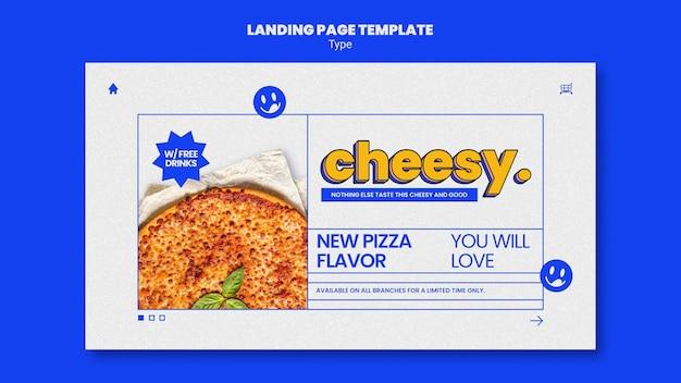 Página de destino para um novo sabor de pizza com queijo