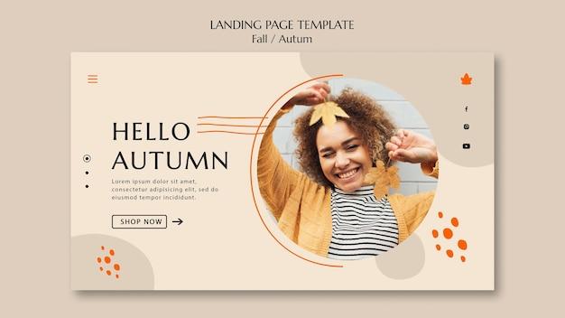 Página de destino para venda de outono