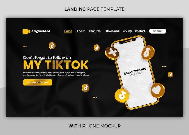 Página de negócios com modelo de página de destino da web 3d render mock up