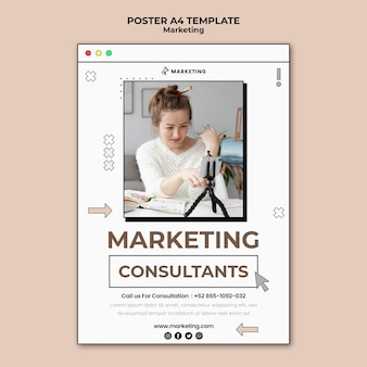 Página de pôster de marketing digital