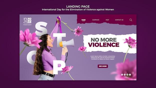 Página do dia internacional pela eliminação da violência contra a mulher