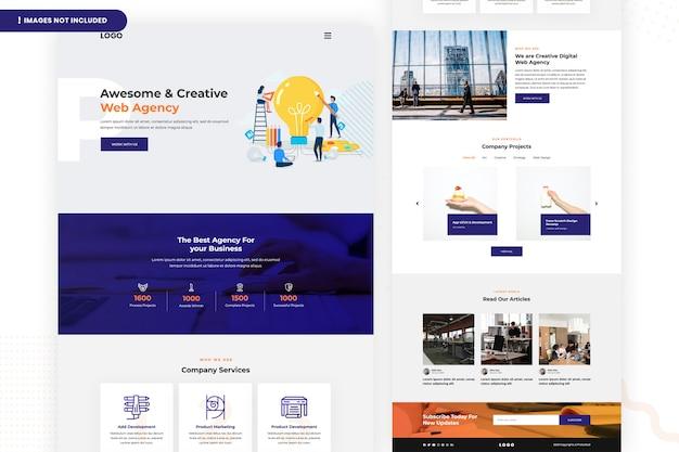 Página do site da agência da web criativa