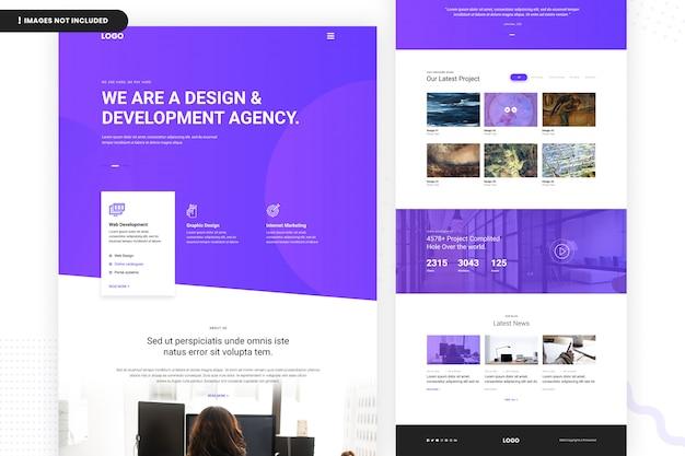 Página do site da agência de design e desenvolvimento