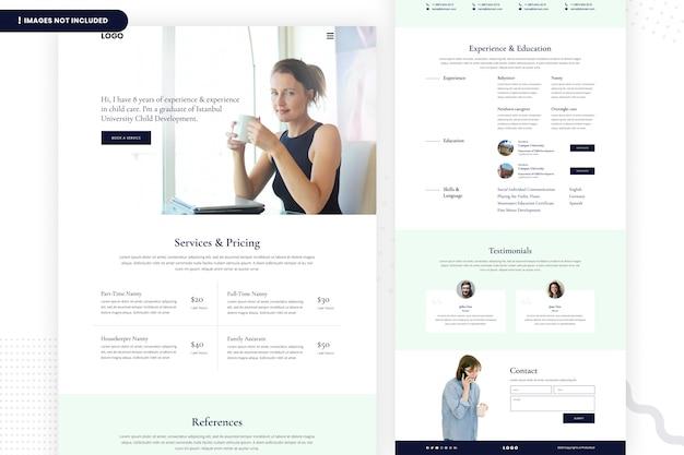 Página do site da agência de recrutamento de pessoal privado