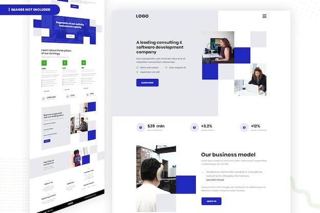 Página do site da empresa de desenvolvimento de software