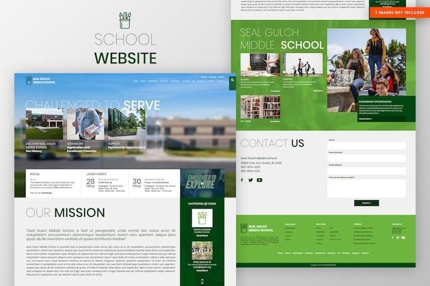 Página do site da escola