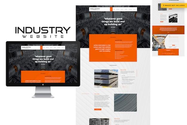 Página do site da indústria