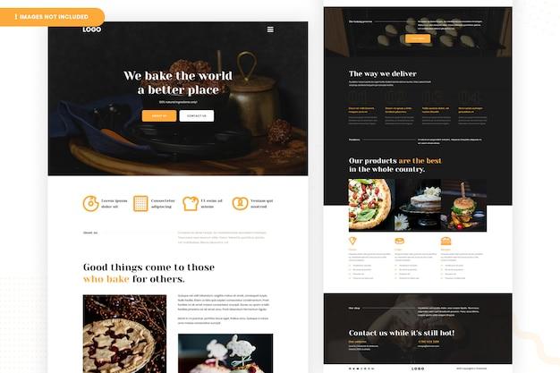 Página do site da padaria