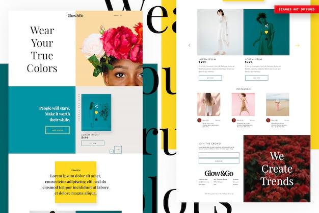 Página do site de compras online