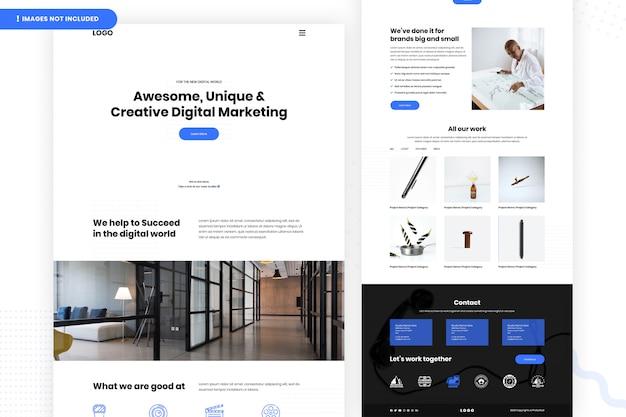Página do site de marketing digital criativo