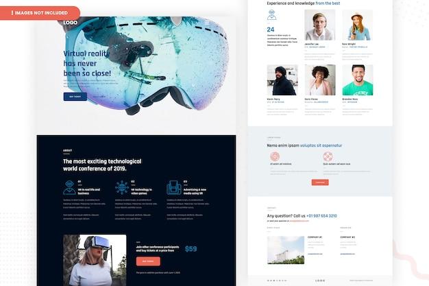 Página do site de realidade virtual