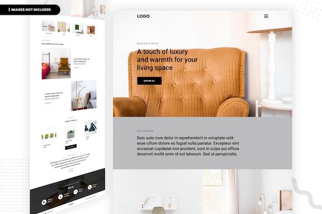 Página do site do espaço de luxo