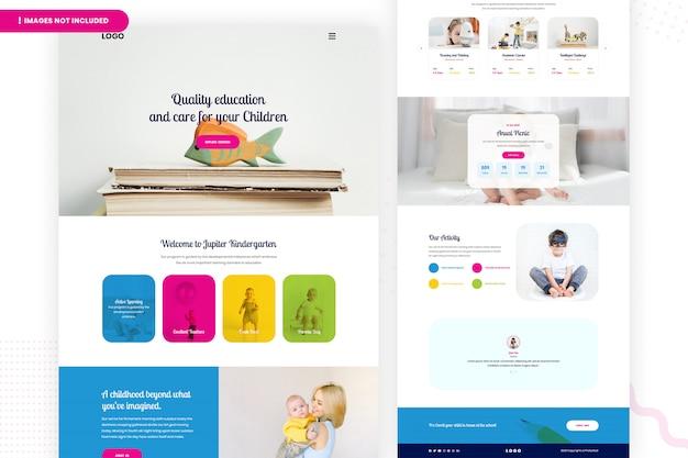 Página do site do jardim de infância