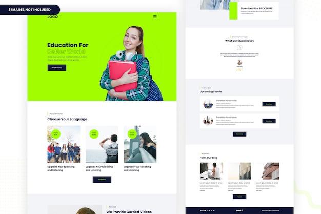 Página do site educação para um mundo melhor