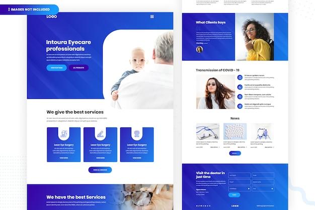 Página do site eye care