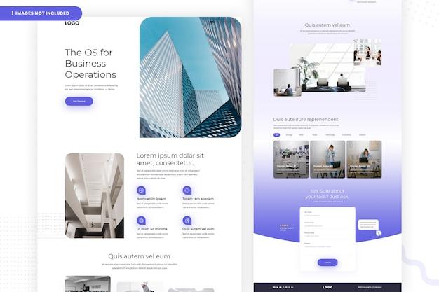 Página do site os for business operations