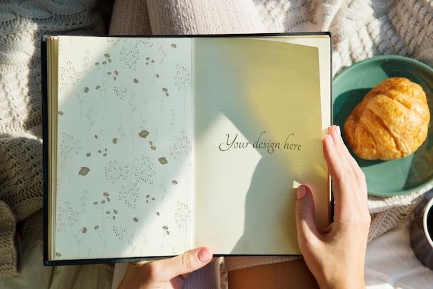 Página em um caderno