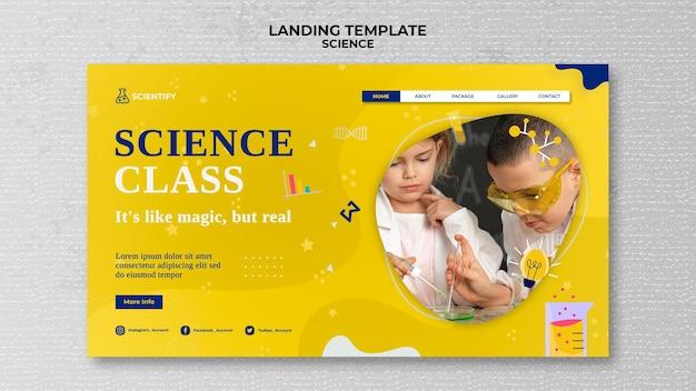 Página inicial da aula de ciências