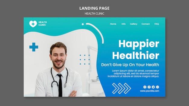 Página inicial da clínica de saúde