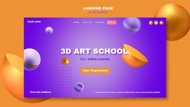 Página inicial da escola de arte