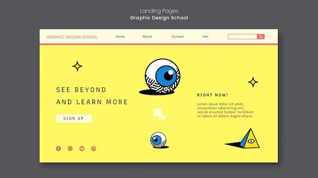 Página inicial da escola de design gráfico