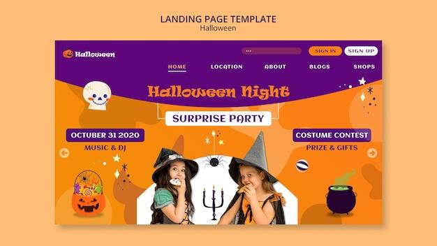 Página inicial da festa de halloween