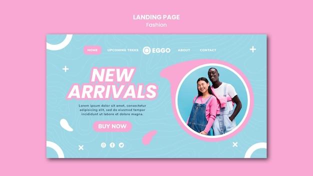 Página inicial da loja de moda com foto