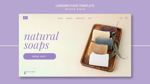 Página inicial da loja de sabonete artesanal
