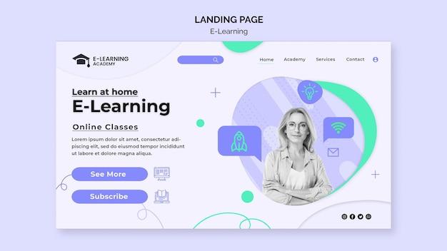Página inicial da plataforma de e-learning