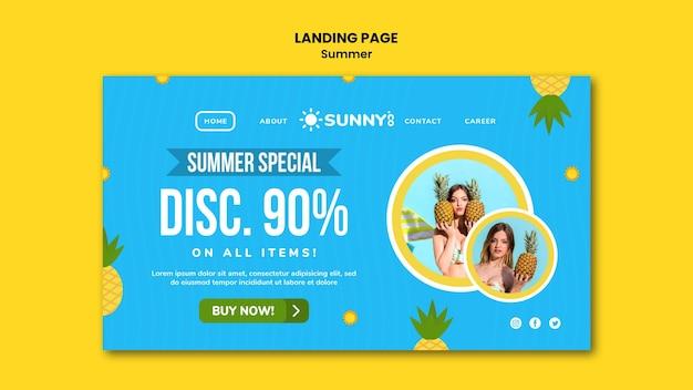 Página inicial da promoção de verão
