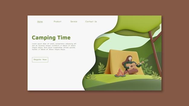 Página inicial de acampamento para jovens