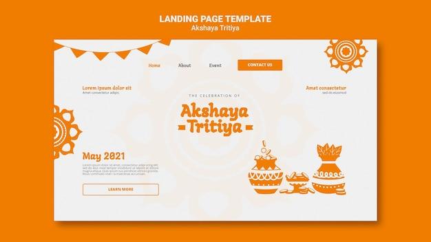 Página inicial de akshaya tritiya Psd Premium