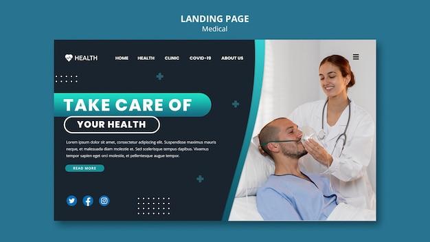 Página inicial de assistência médica