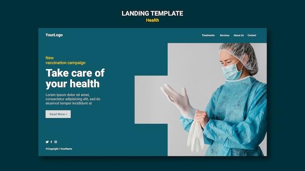 Página inicial de cuidados de saúde
