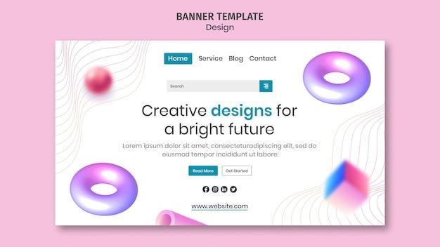 Página inicial de designs criativos em 3d