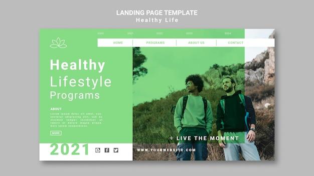 Página inicial de estilo de vida saudável