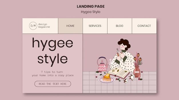 Página inicial de estilo hygge