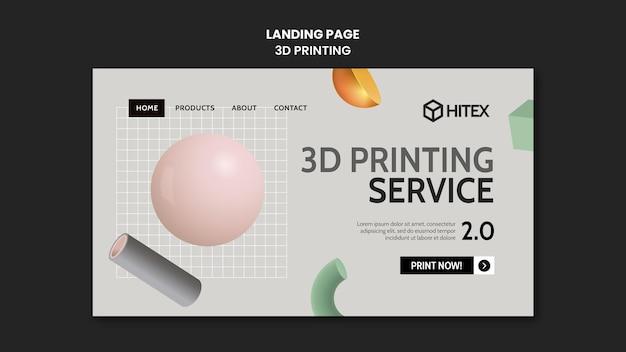 Página inicial de impressão 3d
