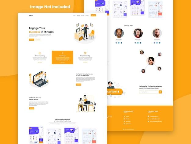 Página inicial de negócios do site criativo