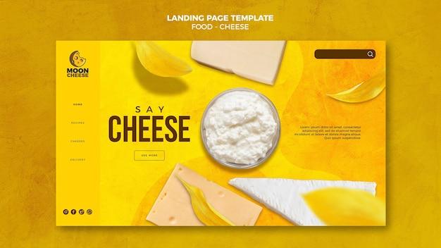Página inicial de queijos saborosos Psd Premium